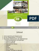 Voorstelling Stadsmonitor Turnhout 2011