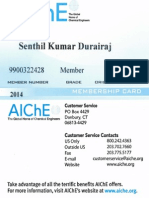 AIChE Membership Card