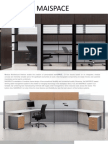 MAISPACE Office Cubicles Frame and Tile Panel System Brochure
