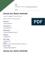 Hamza Bin Abdul Muttalib