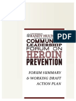 Community Leadership Forum on Heroin Prevention