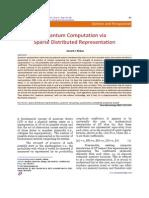 Quantum Computation via Sparse Distribution