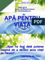2005-2015 DECENIUL INTERNAŢIONAL AL PROGRAMULUI APĂ PENTRU VIAŢĂ