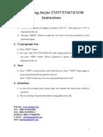 Deciphering Set for t5557 t5567 e5550