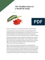 8 World's Healthiest Spices & Herbs