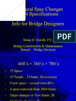 Structural Spec Changes - 2014 Specification