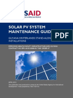 Solar PV Systems Maintenance Guide