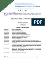 RAC  17 - Seguridad de la Aviación Civil