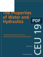 The Properties of Water and Hydraulics