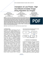 Researchpaper FPGA Implementation of Low Power High Speed Area Efficient Invisible Image Watermarking Algorithm for Images