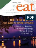 Where to Eat Phuket November - December 2009