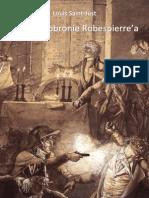 Louis Saint Just Mowa w Obronie Robespierrea 1794
