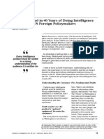What I Learned in 40 Years of Doing Intelligence Analysis for US Foreign Policymakers Martin Petersen