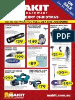 Makit Hardware Christmas Catalogue