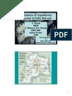 Evaluation of liquefaction potential of sub soil
