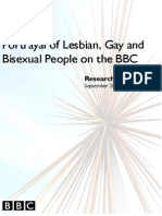 Portrayal of LGB People on the bBC