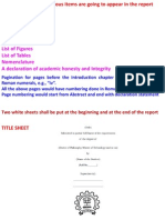 Thesis report structure