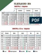 Calendar_ Scolar 2013-2014