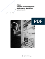 Spectrum Analysis Amplitude anSpectrum Analysis Amplitude and Frequency Modulation