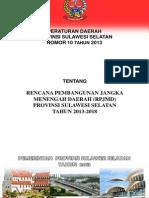 Sulawesi Selatan RPJMD 2013-2018