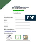 Symposium Registration, SSCHRC