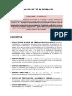 MANUAL DE COSTOS DE OPERACIÓN ACTUALIZADO