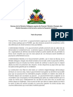 Menaces perpétrées contre des travailleurs de la Presse -  Bureau de la Ministre Déléguée auprès du Premier Ministre Chargée des Droits Humains et de la Lutte contre la Pauvreté Extrême