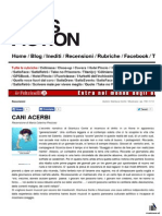 "16 Aprile 2014 - SATISFICTION, Maria Caterina Prezioso recensisce ""Cani acerbi"" di Gianluca Conte"