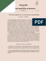 Cabrera 1971- Fitogeografía de Argentina