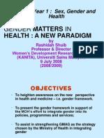Genderand Health Ppsp Yr 1 2008