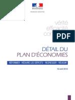 2014.04.16 - Détail du plan d'économies
