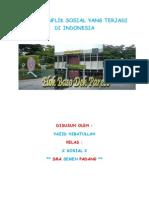 Kasus Konflik Sosial Yang Terjadi Di Indonesia