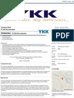 Technical Staff - PT YKK Zipco Indonesia