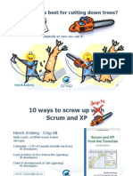 10 Ways to Screw Up With Scrum and XP