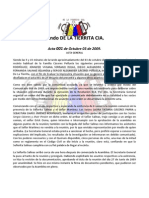 Acta 001 de 03 de Octubre de 2009 - Fondo de La Tierrita