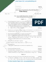 Field Theory Jan 2014