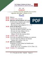 Asamblea Regional - Sigamos Buscando Primero El Reino de Dios - 2014 - Madrid