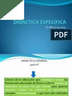 Didáctica Específica