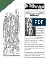 Children's Word bulletin for Sunday, April 20, 2014