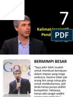 7 Kalimat Inspiratif Pendiri Google
