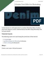 Create a Stitched Denim Text Effect in Photoshop - Tuts+ Design & Illustration Tutorial