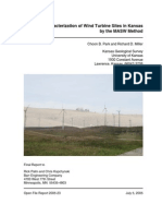 Seismic Characterization of Wind Turbine Sites in Kansas by the MASW Method