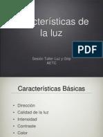 Características de la luz AETC