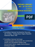 Sisdiknas UU No.20 Tahun 2003