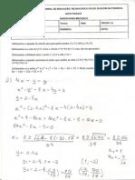 Exercícios Álgebra P1