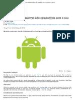Como instalar aplicativos não compatíveis com o seu Android - imprimir