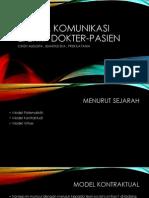 Model Komunikasi Efektif Dokter-pasien