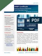 HRBP Course Details