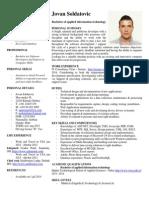 Jovan Soldatovic CV
