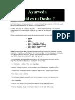 Test Ayurveda Dosha